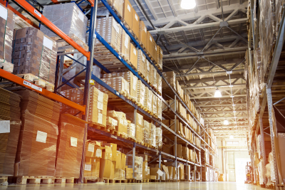 Interior of a modern large warehouse industry